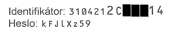 Identifikátor a heslo
